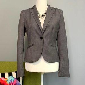 H&M Grey Tailored One Button Blazer Jacket Size 6